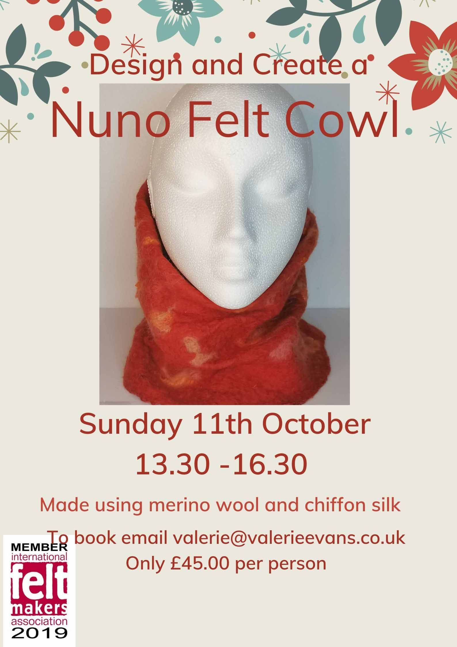 learn how to make a nuno felted cowl